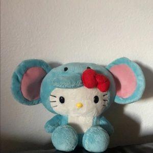 Hello Kitty Blue Elephant plush